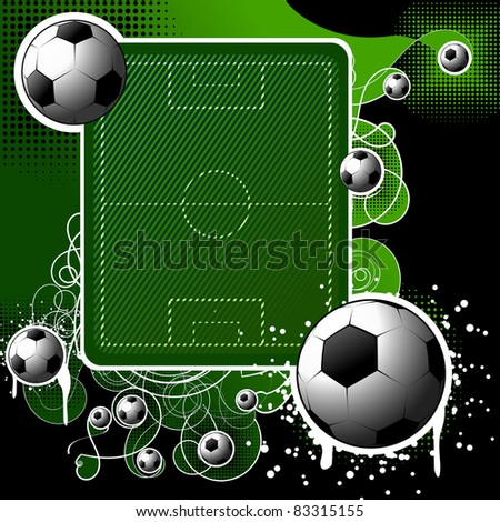Football background - stock vector