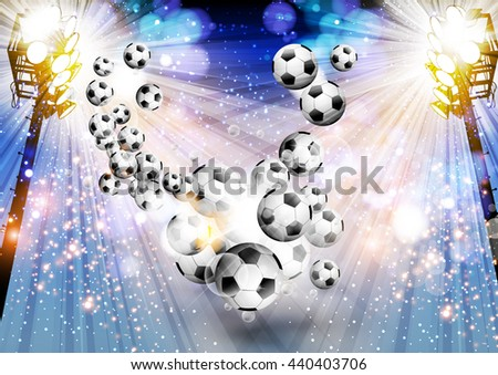 Football background soccer background with light easy editable - stock vector
