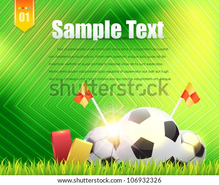 Football Background Template Vector Design - stock vector