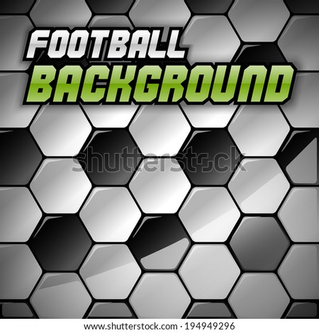 Football background. Vector soccer texture as abstract background. (not seamless) - stock vector