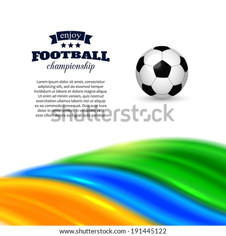 Football  background with soccer ball and place for text. - stock vector