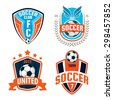Football badge logo template design,soccer team,vector illustration