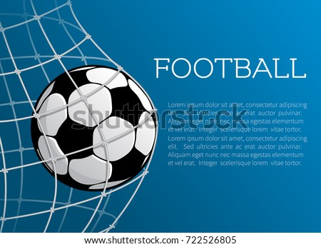 Football ball goal gates poster soccer stock vector 722526805 football ball in goal gates poster for soccer sport championship or tournament template vector footballer pronofoot35fo Gallery