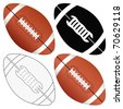 Football ball set isolated on a white background. Vector illustration. - stock vector