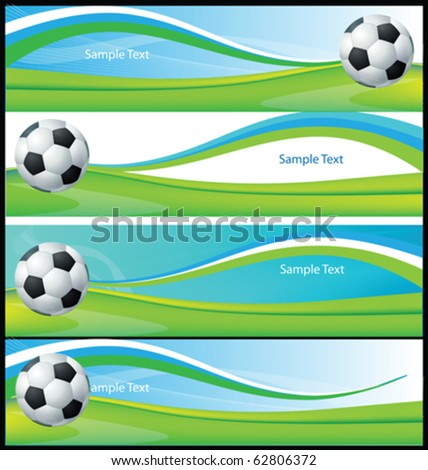 Football Banners Collection Vector