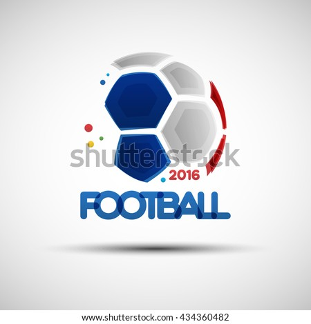 Football championship banner. Vector illustration of abstract soccer ball for your design - stock vector