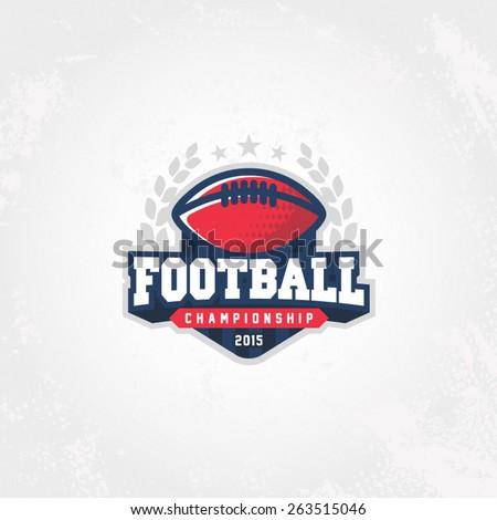 Football championship logo - stock vector