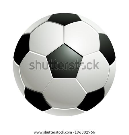 Football / Classic soccer ball. - stock vector