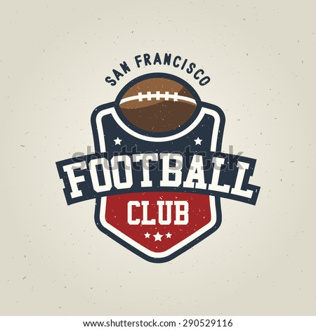 Rugby League Vintage Badge Logo Template Stock Vector 290529167 ...