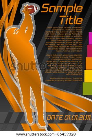 Football concept poster template. Vector illustration. - stock vector