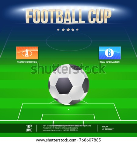 football event flyer template place your stock vector 768607885