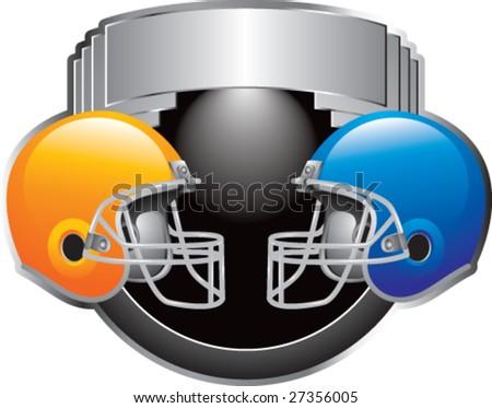 football face off - stock vector