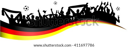 football fans germany - stock vector