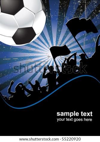 football fans poster - stock vector