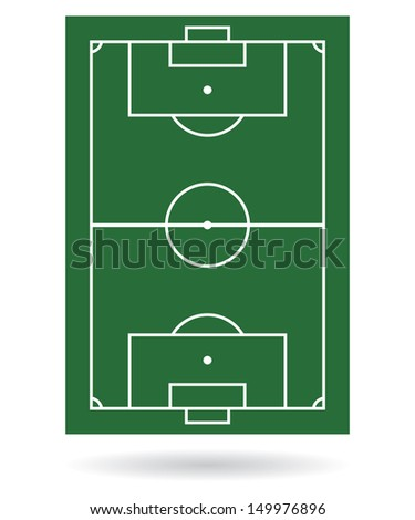 Football field background. vector - stock vector