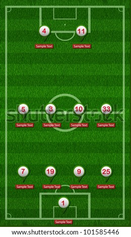Football Field Editable - stock vector