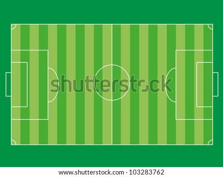 Football field on  green background. Eps8 vector. - stock vector