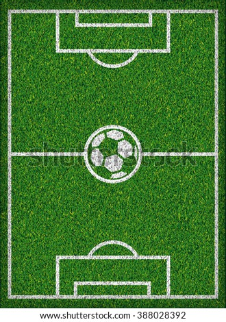 Football field Soccer concept Vector illustration - stock vector