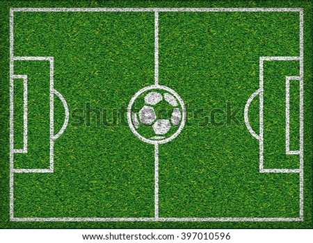 Football field Soccer concept Vector illustration, - stock vector