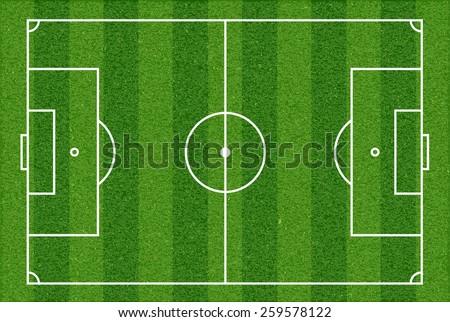Football field. Top view. Vector image. - stock vector