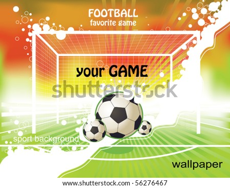 football game - stock vector