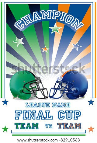 football game poster team vs - stock vector