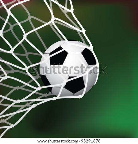 Football goal - stock vector