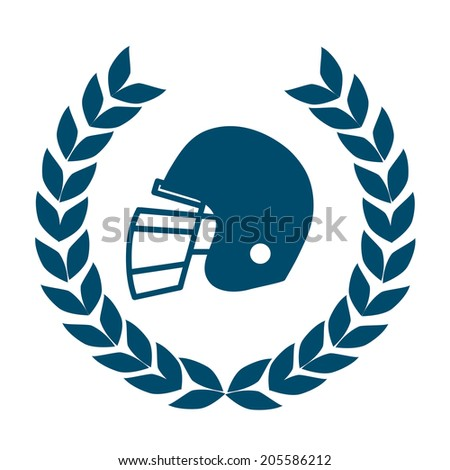 football helmet icon - stock vector