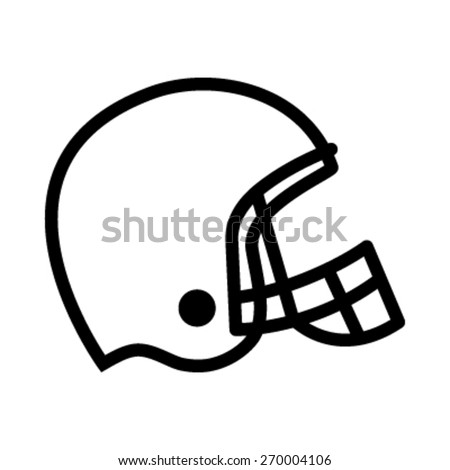vector football helmet template set stock vector 187986704