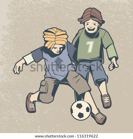 football heroes characters vector illustration - stock vector
