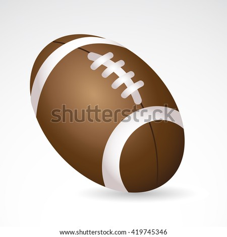 Football icon isolated on white background. Vector art.