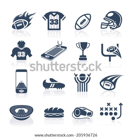 Football Icon Set - stock vector