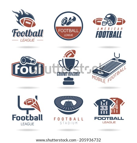 Football Icon Set - 3 - stock vector