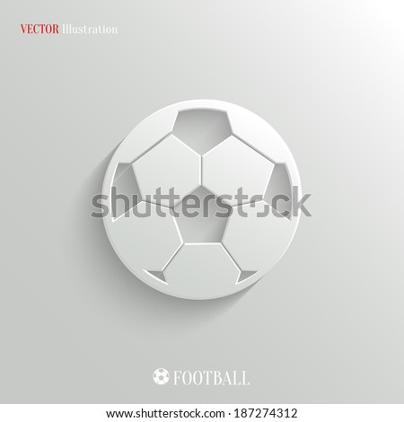 Football icon - vector web illustration, easy paste to any background - stock vector