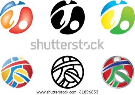 football icons - stock vector