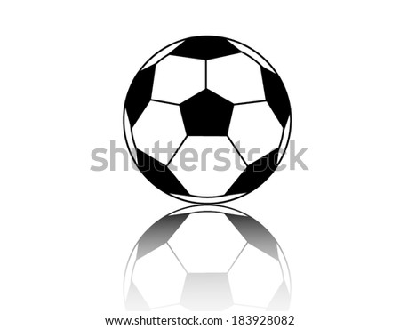 football isolated on the white background - stock vector