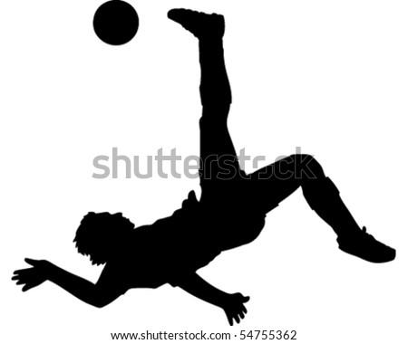 Football Kick Bicycle Kick Stock Vector 54755356 ...