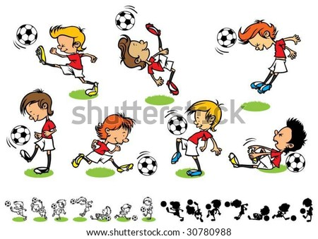 Football kids - stock vector