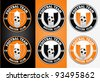 Football Labels - stock vector