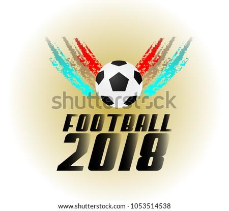 football 2018 logo icon soccer event stock vector 1053514538