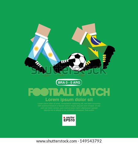 Football Match Vector Illustration.EPS10 - stock vector