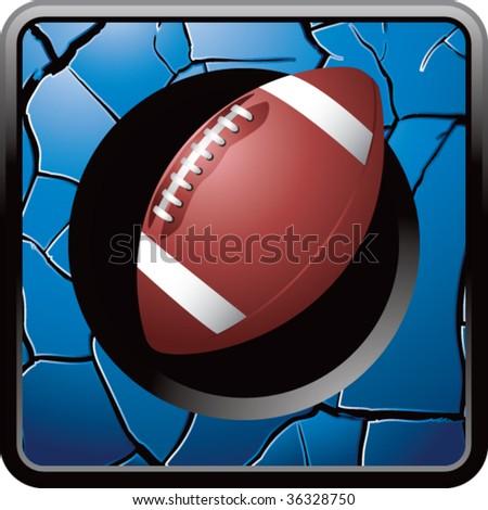 football on cracked web icon - stock vector