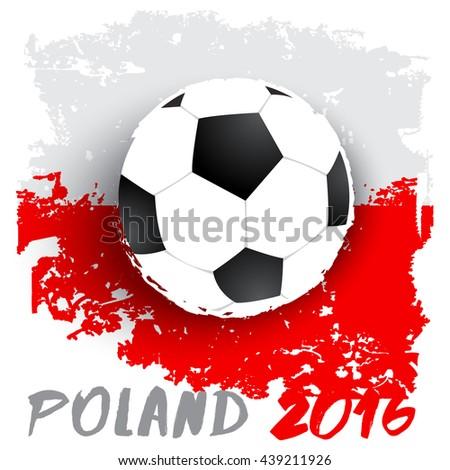 Football On Grunge Flag Background : Vector Illustration - stock vector