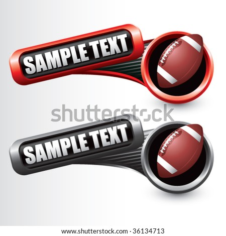football on modern style tilted banners - stock vector