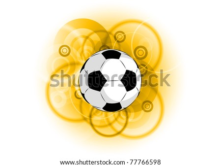 football on the golden background - stock vector