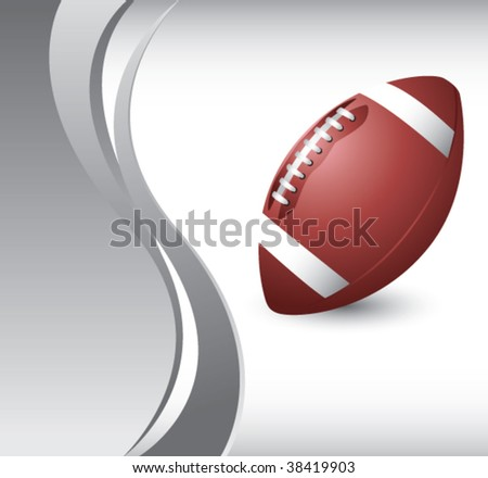 football on vertical wave background - stock vector