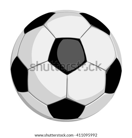 Football or soccer ball in vector format isolated on white background. Clipping path included for easy selection. - stock vector