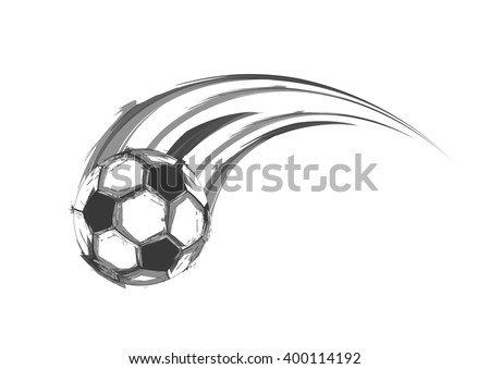 Football or soccer balls with motion trails - stock vector