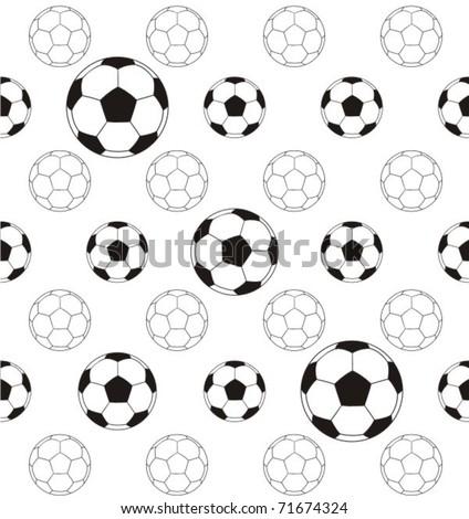 Football - pattern - stock vector