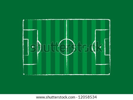 Football Pitch - stock vector